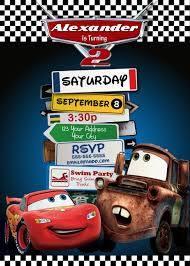 Invitacion Cars Invitaciones Invitaciones De Fiesta De