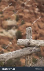 Rustic Wooden Fence Posts Canyon Red Stock Photo Edit Now 543288178