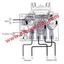 12v car audio lifier circuit 50w