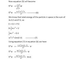 proof of schrodinger equation