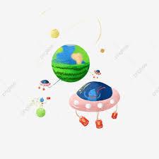 Espacio Universo Alien Nave Espacial Ufo Pintar Via Lactea Png