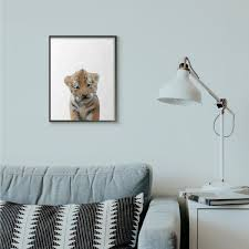 The Kids Room By Stupell 16 In X 20 In Baby Tiger By Leah Straatsma Framed Wall Art Aap 351 Fr 16x20 The Home Depot