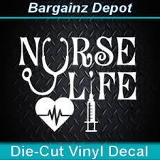 Vinyl Decal Nurse Life Nursing Medical Np Rn Lpn Cna Car Laptop Sticker Ebay