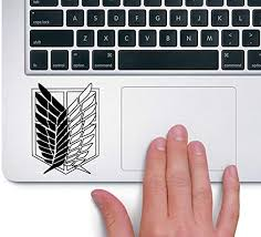 Amazon Com Attack On Titan Trackpad Apple Macbook Laptop Vinyl Sticker Decal Kitchen Dining