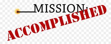 Image result for mission accomplished clip art