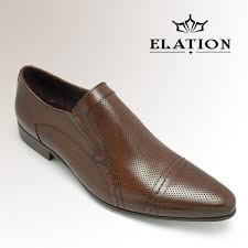 perforated leather dress shoes for men