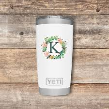 Monogram Personalized Initial Letter Sticker Decal You Choose For Yeti Laptop Ebay