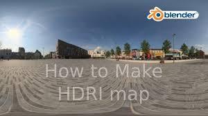 blender how to make hdri map on 3d