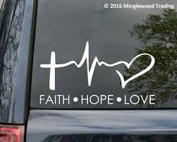 Faith Hope Love Vinyl Decal Sticker Car Window Wall Bumper Symbol Heart Cross 8 Parts Accessories Thecorner Mx