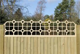 Fence Toppers Shaped Top Edge Ligna Outdoor