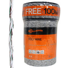 Amazon Com Gallagher Electric Fence Poly Wire Bonus Pack 1312 Ft Plus Free 328 Ft Roll 6 Stainless Steel Strands For Reliable Conductivity And Rust Resistance 1 16 Diameter