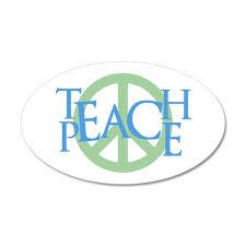 Teach Peace Wall Decal By Custom Gifts Cafepress