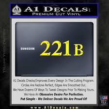 Sherlock Holmes Decal 221b Sticker A1 Decals
