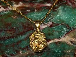 alaska gold nugget pendant genuine real