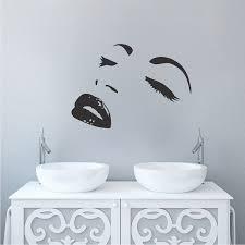 Modern Face Wall Decals Trendy Wall Designs