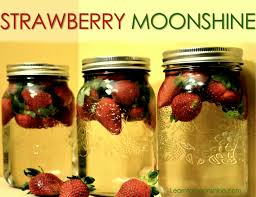 easy strawberry infused moonshine