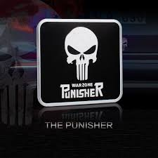 Best Sale Fca2f5 Skull Death Punisher Car Stickers Metal Aluminum Motorcycle Tank Helmet Decal Auto Exterior Decoration Cicig Co