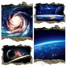 3d Outer Space Star Planet Wall For Kids Room Decor Galaxy Art Mural Decals Home Living Room Decoration Removable Floor Stickers Wall Decals Sticker Wall Decals Stickers From Saveach 2 56 Dhgate Com