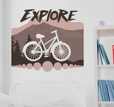 Explore Bicycle Wall Sticker Tenstickers