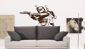 Amazon Com Boba Fett Star Wars Nursery Room Kids Bedroom Wall Sticker Decal Wall Art Decor G7211 2 48x50 Baby