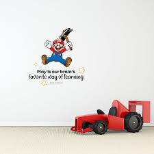 Design With Vinyl Learning Super Mario Life Cartoon Quotes Decors Wall Sticker Art Design Decal For Girls Boys Kids Room Home Decor Wall Art Vinyl 20x20 Inch Wayfair