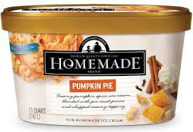 pumpkin pie homemade brand ice cream