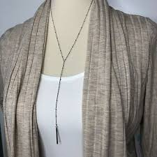 long necklace silver finish