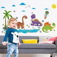 Ufengke Dinosaur Paradise Wall Decals Children S Room Nursery Removable Wall Stickers Murals B06xwwsksn