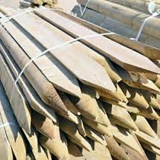 20 Half Round Wooden Treated Fence Fencing Posts 1 8m 6ft Tall 100mm 4 Dia Ebay