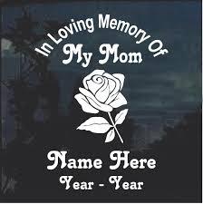 Rose A2 In Loving Memory Window Decal Sticker Custom Sticker Shop