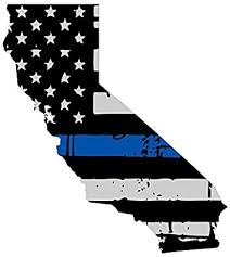 Amazon Com Expressdecor California Tattered Thin Blue Line Us Flag Honoring Our Men And Women Of Law Enforcement Computer Laptop Symbol Decal Family Love Car Truck Sticker Window Automotive