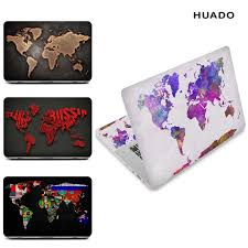 World Map Laptop Skin Decal Sticker Cover Pvc Notebook Reusable Protector For Macbook Lenovo Hp Asus Acer Laptop Skins Aliexpress