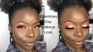 cute valentines day makeup look
