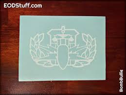 Outline Hdt Badge Decal Eod Vinyl Transfer Decal Eodstuff By Bombbullie