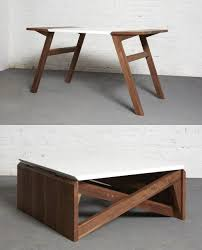 coffee table easily transforms into