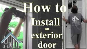 install an exterior door and jamb