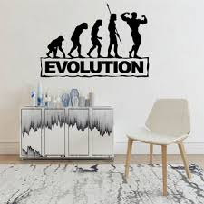 Evolution Fitness Decal Gym Sticker Body Building Posters Vinyl Wall Decals Mural Fitness Crossfit Decal Gym Sticker Wl1667 Herda Verdjha7d3