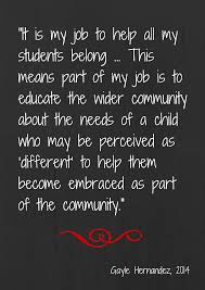 a teacher s job is to help students belong special education