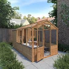 waltons 12 x 6 shiplap combi greenhouse