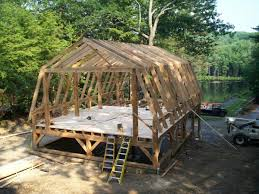 gambrel style wood barn kit post and