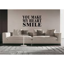 Shop You Make Me Smile Inscription Wall Art Sticker Decal Overstock 11523778
