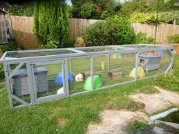 Outdoor Bunny Run Is Fully Screened To Protect From Predators Including Raptors Outdoor Rabbit Run Bunny Cages Rabbit Cages Outdoor