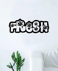 Amazon Com Boop Decals Fresh Weed Leafs Wall Decal Sticker Vinyl Bedroom Living Room Decor Decoration Teen Girl Boy Inspirational Artwork Stoner Plants Nature Cool Dope Marijuana Smoke Home Kitchen