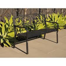 hartman black cast iron and steel bench