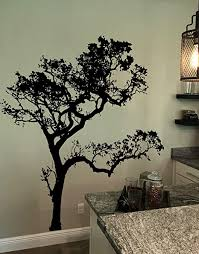 Amazon Com Black 6ft Tall Oak Tree Wall Decal For The Living Room Bedroom Bathroom Or Nursery 409a Everything Else