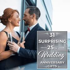 surprising 25th wedding anniversary gifts