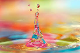 drop water colored bright hd