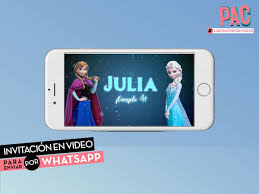 Frozen Invitacion En Video Para Enviar Por Whatsapp Pac 400 00