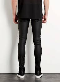 black jeans that look like leather