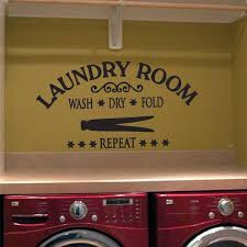 Laundry Room Decor Vinyl Decal Wash Dry Fold Repeat Eastcoast Engraving